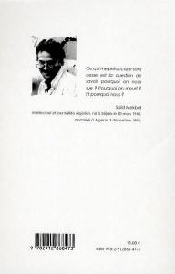 """Extrait -Saïd Mekbel :""""Une mort à la lettre""""Monika Borgmann dans Auteurs FRANCAIS """"Une-mort-à-la-lettre""""Monika-Borgmann-192x300"""
