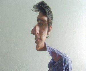 Illusion -vous pouvez y voir 2 visages! dans Peinture illusion-visage-300x248